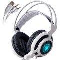 Arcmage 3.5mm fone de ouvido de jogos sades fones de ouvido sobre a orelha stereo isolamento de ruído fones de ouvido com microfone levou luzes para pc gamer laptop