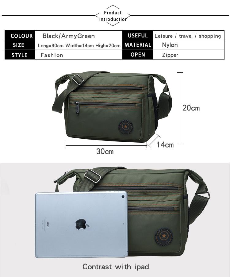 d966fc225dae Hot sell 2018 men messenger bags high quality men s travel bag male shoulder  bag classical design men s Nylon bags waterproof