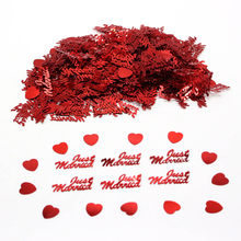 Almost 380pcs Table Party Bling Scatters Confetti Gold Silver Just Married Heart Shape Romantic Valentine Surprise Confetti(China)