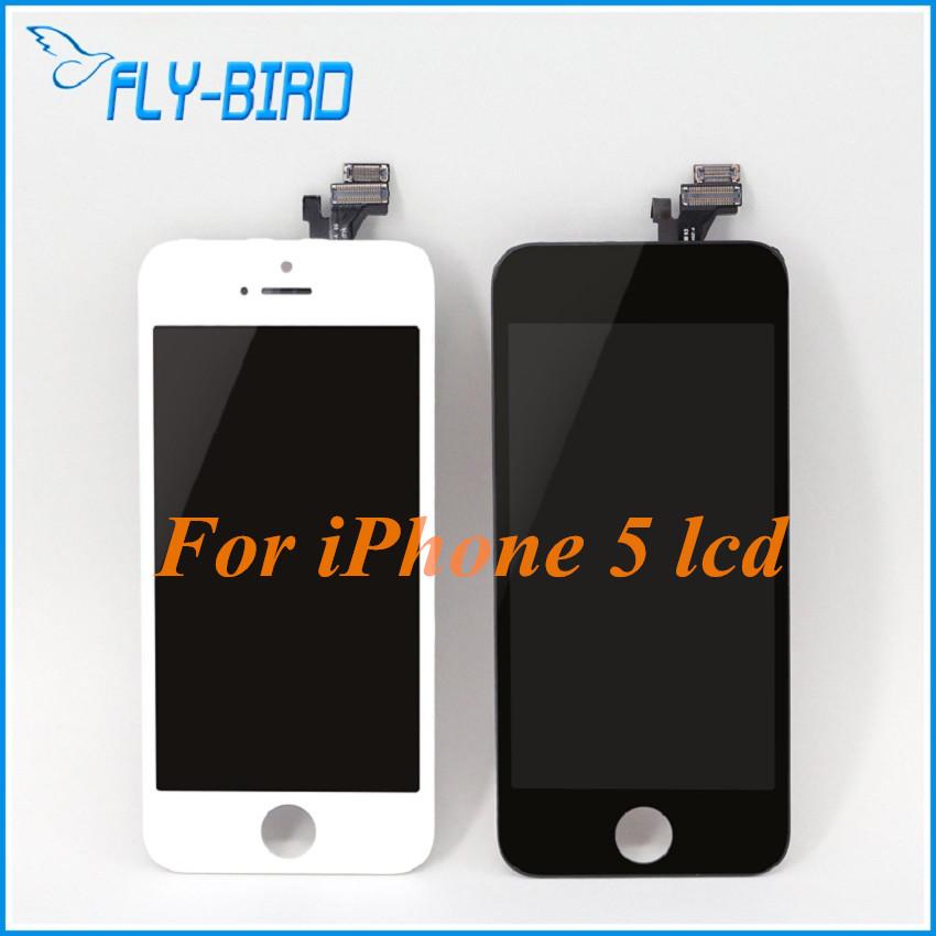 Prix pour 10 pcs/lot a + + lcd pour apple iphone 5 touch écran assemblée écran lcd avec verre lcd digitizer remplacement
