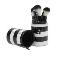 10pcs Professional Makeup Brush Set Cosmetic Powder Foundation Contour Brushes Empty Portable Travel Brush Holder