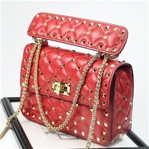 Luxury Handbags Women Bags Designer New Rivet Clutch Tote Bag Sheepskin Famous Brands Chains Shoulder Bags Bolsa Feminina Autumn