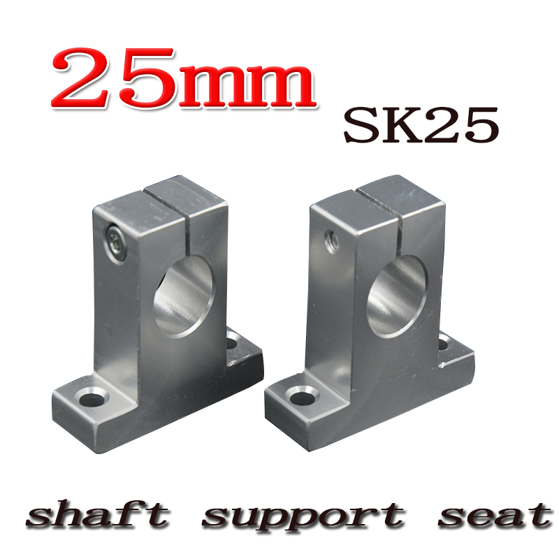 SK25 SH25A 25mm linear shaft support 25mm Linear Rail Shaft Support XYZ Table CNC parts 2pcs lot sk25 25mm linear rail shaft guide support cnc brand new