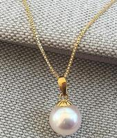 huge 1812mm south sea natural white pearl necklace pendant