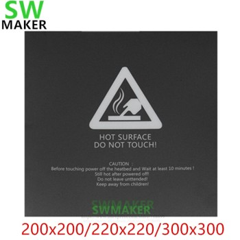 1pcs Heat Bed Sticker Hotbed Sheet tape black 220*220/300*300mm For Wanhao i3 Anet A8 A6 3D Printer Printing Build Plateform image