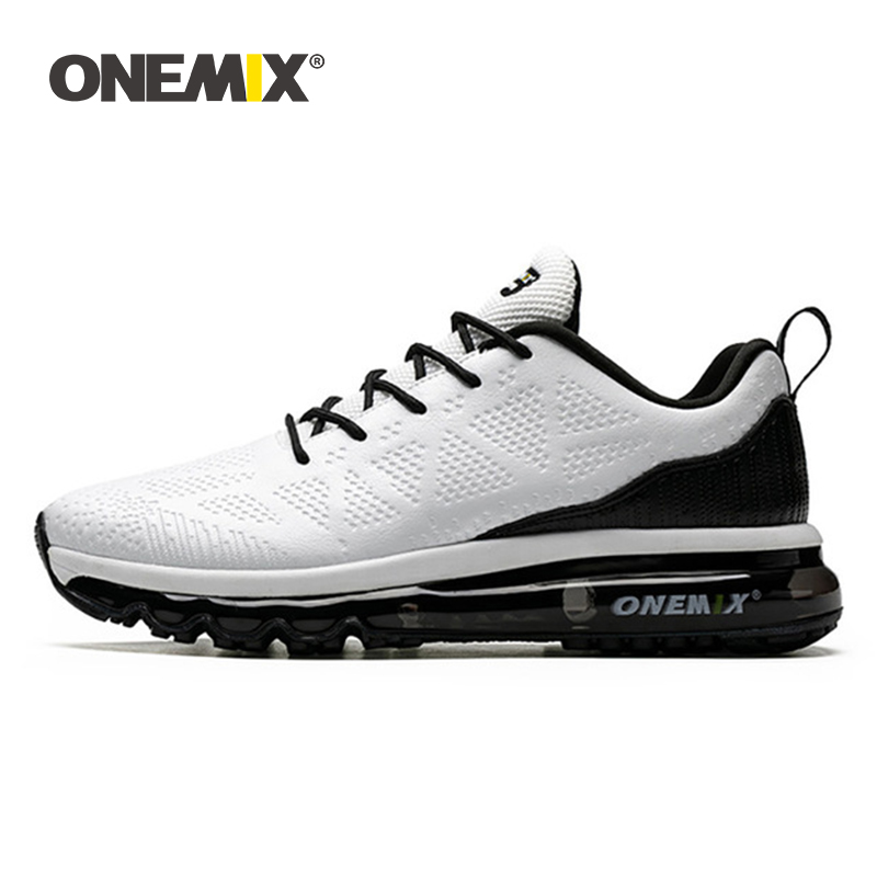 ONEMIX Women Running Shoes Leather Female Sneakers Waterproof Outdoor Shock Absorption Athletic Woman Sports Shoes Big Size 43