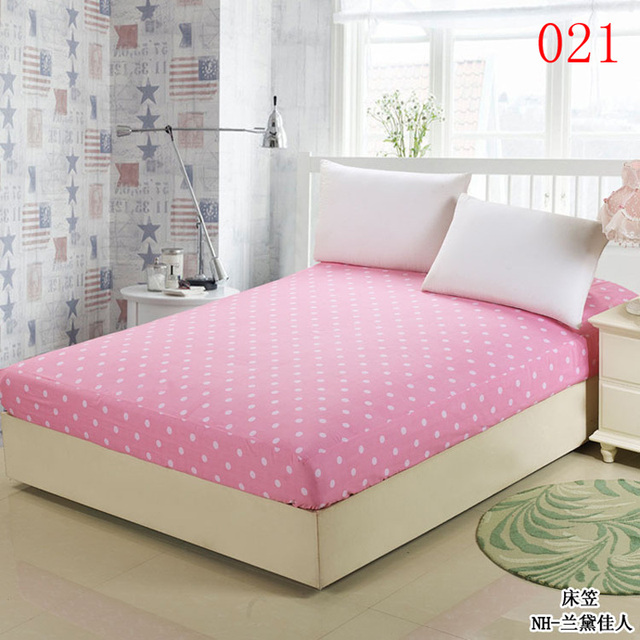 Dot 1Pcs Cotton Fitted Sheet Single Double Bed Sheets Fitted Cover Mattress  Cover Twin Full Queen