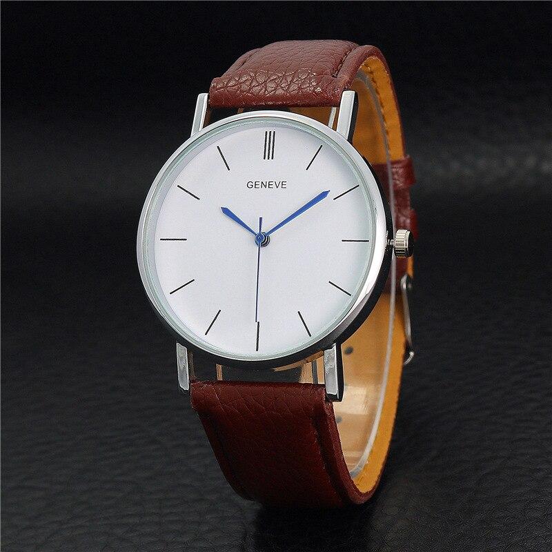 2019 New listing fashion casual tide men's watches solid color men Business waterproof retro strip watch mens quartz wristwatch