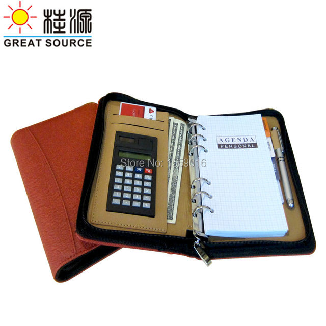 Great Source 2018 planner A6 notebook calculator pen holder card holder 2019 calendar planner agenda Free shipping