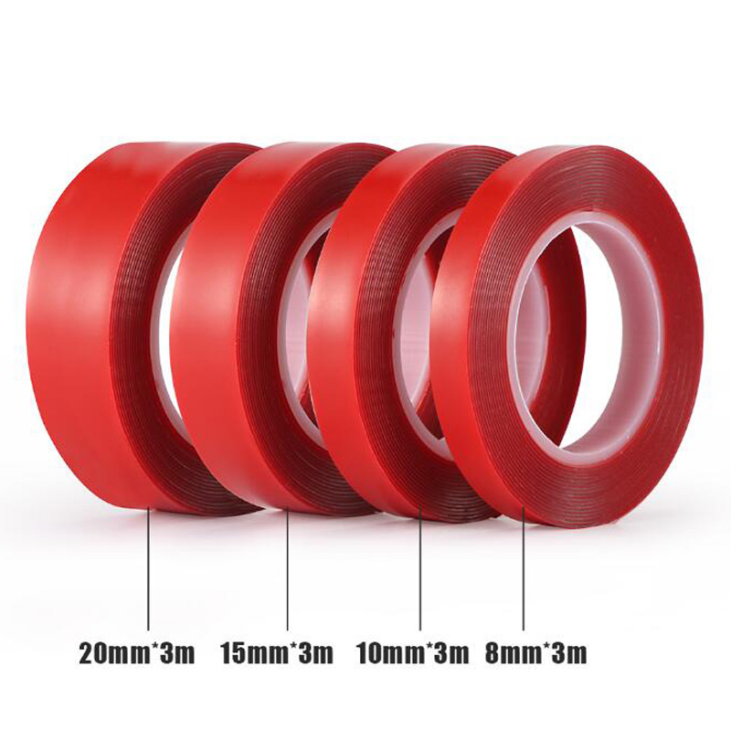 Image 5 - 3M Length Transparent Double Sided Tape Car Sticker Double Foam Faced Adhesive Tape Auto Glue Sticker Multi functional For Car-in Car Stickers from Automobiles & Motorcycles