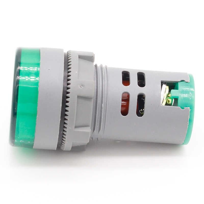 1 adet 22MM AC 60-500V LED voltmetre gerilim metre göstergesi pilot işık kırmızı sarı yeşil beyaz mavi