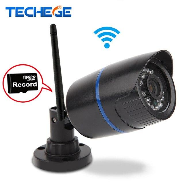 Techege WI-FI Ip-камера 720 P Сети Ик Пуля Открытый Водонепроницаемый IP66 P2P ONVIF Ночного Видения 1.0MP WIFI Motion Detection