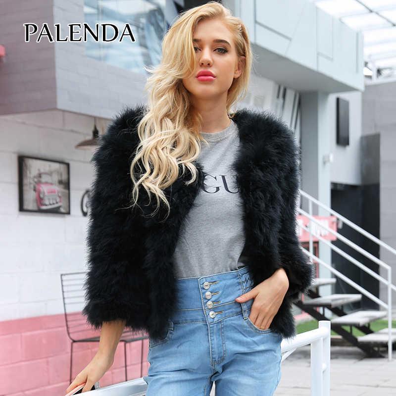 2018 nuevo abrigo de piel sintética para mujeres cálido mullido y suave hecho a mano Chaqueta corta Piel de moda