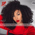 New Fluffy Afro Kinky Curly Lace Front Wigs Short Black Synthetic Lace Front Wig Cute Synthetic Wigs For Black Woman IN STOCK