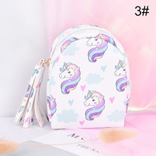 12Styles Kids Small Cute Cartoon Unicorn Coin Purses Kawaii Key Money Bags For Girls Ladies Purse Women Wallets Card Holder(China)
