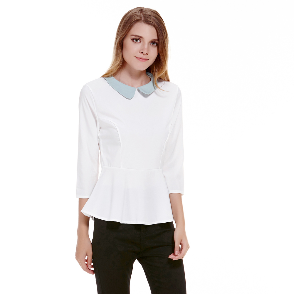 Shop for WHITE M Cute Peter Pan Collar Short Sleeve Bowknot Embellished Women's Blouse online at $ and discover fashion at coolmfilehj.cf Cheapest and Latest women & men fashion site including categories such as dresses, shoes, bags and jewelry with free shipping all over the world.