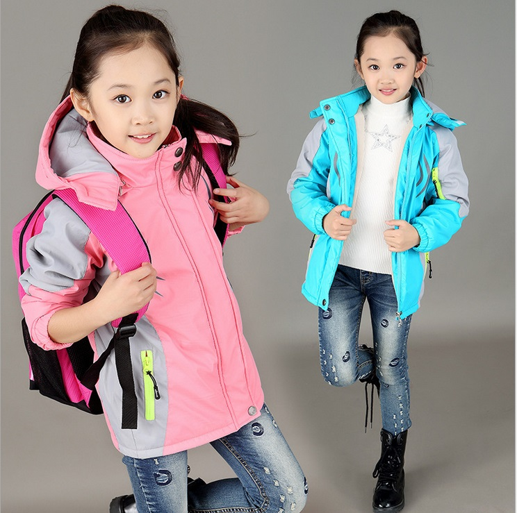 2015 New 3 Colors Solid Cotton Clothing for Teens Girls Teenagers Baby Girl Clothes Coat for