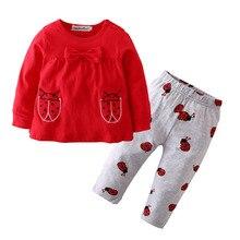Toddler Outfits Ladybug T-Shirt Pants Baby-Girls Infant Cartoon 2pcs Tops Long-Sleeve
