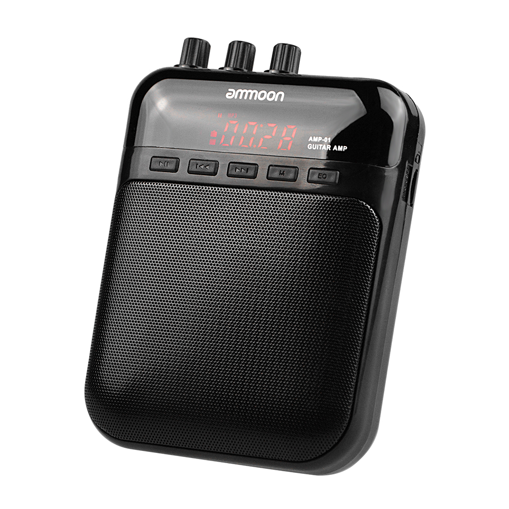 ammoon AMP  01 5W Electric Guitar Amplifier Recorder Speaker TF Card Slot Compact Portable Multifunction Guitar Accessories-in Guitar Parts & Accessories from Sports & Entertainment on AliExpress - 11.11_Double 11_Singles' Day 1