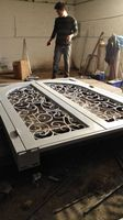 Shanghai China Factory Producing Wrought Iron Doors High Quality Export To U S Model Hench Ad25
