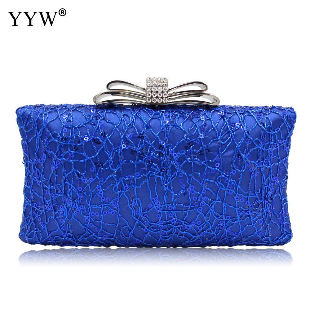 Delle Black Sacchetto Cuoio Diamanti Spalla Borsa silver Modo blue Di Femminile Paillettes Messaggero Catena Con Del Qualità Della Tracolla Donne A xv4nwAzXq