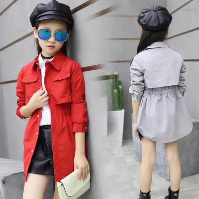 Aliexpress.com : Buy Teenage Girls Trench Coat Outwear Jackets ...