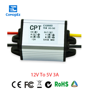 12V to 5V 3A Voltage Converter Waterproof Power DC DC Converters 12V to 3.3V 5V 6V 7.5V 9V 3A Buck Step-down Module for Car