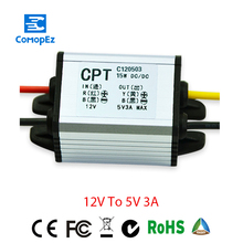 12V to 5V 3A Voltage Converter Waterproof Power DC Converters 3.3V 6V 7.5V 9V Buck Step-down Module for Car