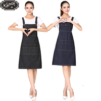 1pcs Unisex Pro Salon Hairdressing Denim Apron Durable Hair Cutting Barber Capes Fashion Workwear Cloth with Tool Pockets