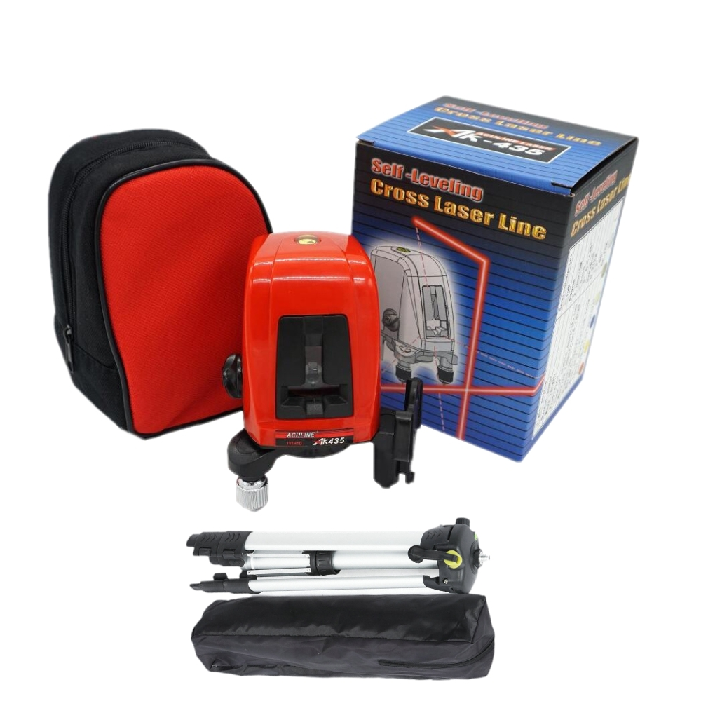 ACULINE AK435 360degree Self-leveling Cross Laser Level Red 2 Line 1 Point a8826d better than ak435 360degree self leveling cross laser level 1v1h red 2 line 1 point hot sale