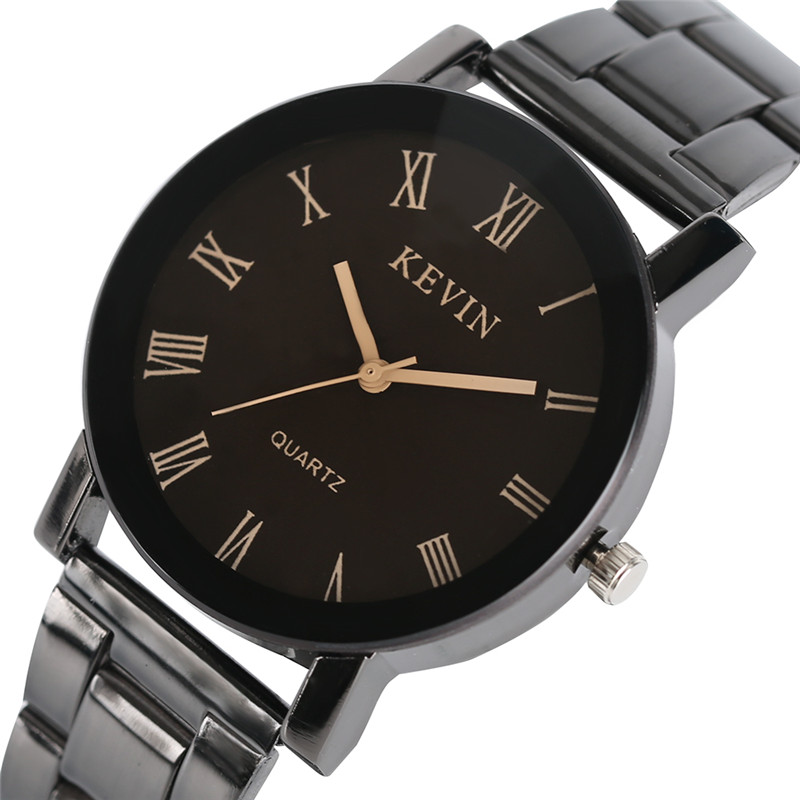 KEVIN Top Brand Men Women Quartz Wristwatch Roman Numerials Stainless Steel Clasp Simple Fashion Design Ladies Watch Best Gift цена