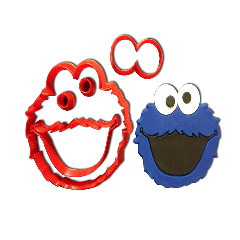 Cartoon Character Sesame Street Cookie Cutter for Fondant Cupcake Top Custom Made 3D Printed Cookie Stamp Cake Decoration Tools