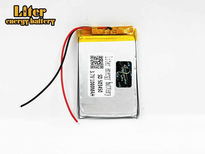 503450 3,7 V 1000 mAh литиево-полимерный lipo Перезаряжаемые Батарея литиевые ячейки для Mp4 gps DVD, Pad электрическая игрушечная камера рекордер