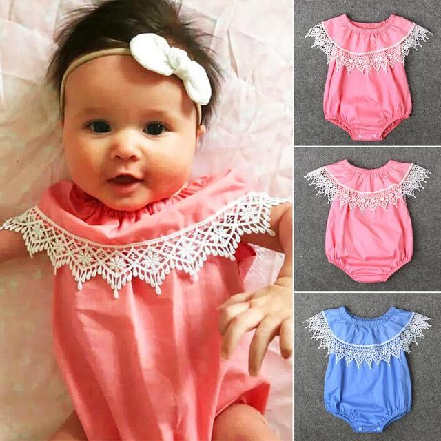 Favoritos Baby girl clothing define roupas bebes meninas macacão de verão a  QA05