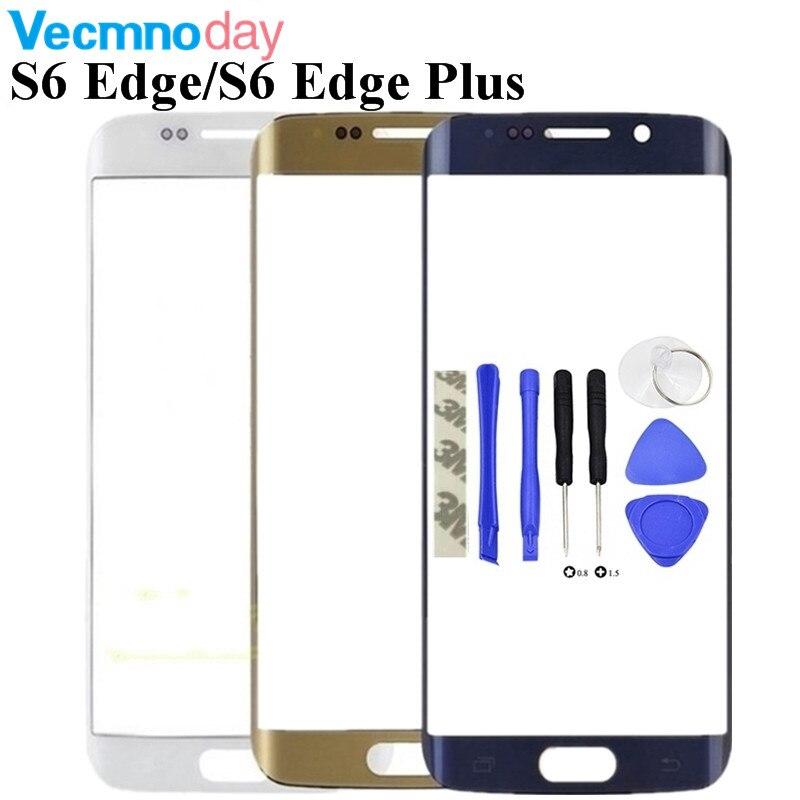 Frente Outer Lente de Vidro de Substituição Para Samsung Galaxy S6 Borda G925/S6 Borda Mais G928 G928F/S7 Borda g935 Toque De Vidro + Ferramentas