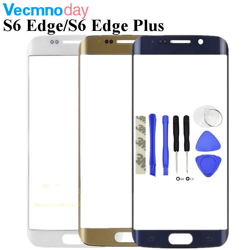 Front Outer Glass Lens Replacement For Samsung Galaxy S6 Edge G925/S6 Edge Plus G928 G928F/S7 Edge G935 Touch Glass + Tools