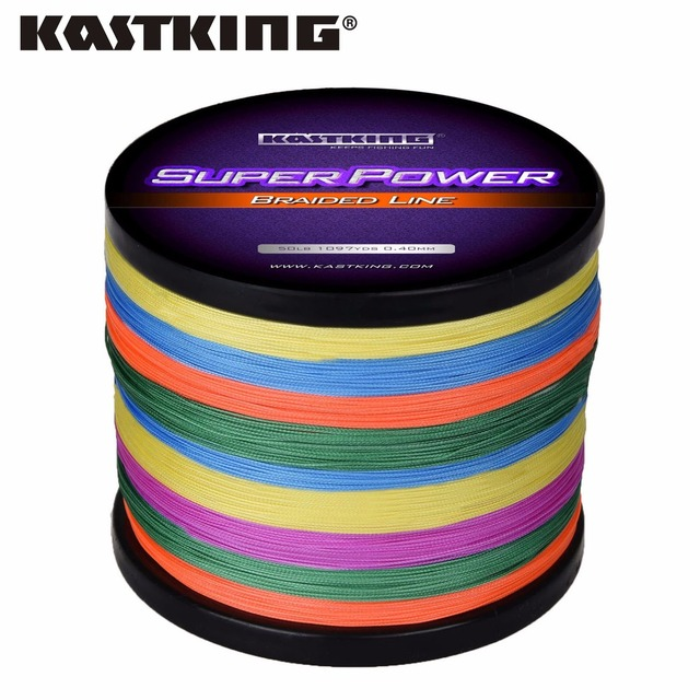 KastKing Multicolor 1000M Extreme Strong Braided Fishing Line Super Strong Multifilament Line Freshwater/Saltwater Fishing