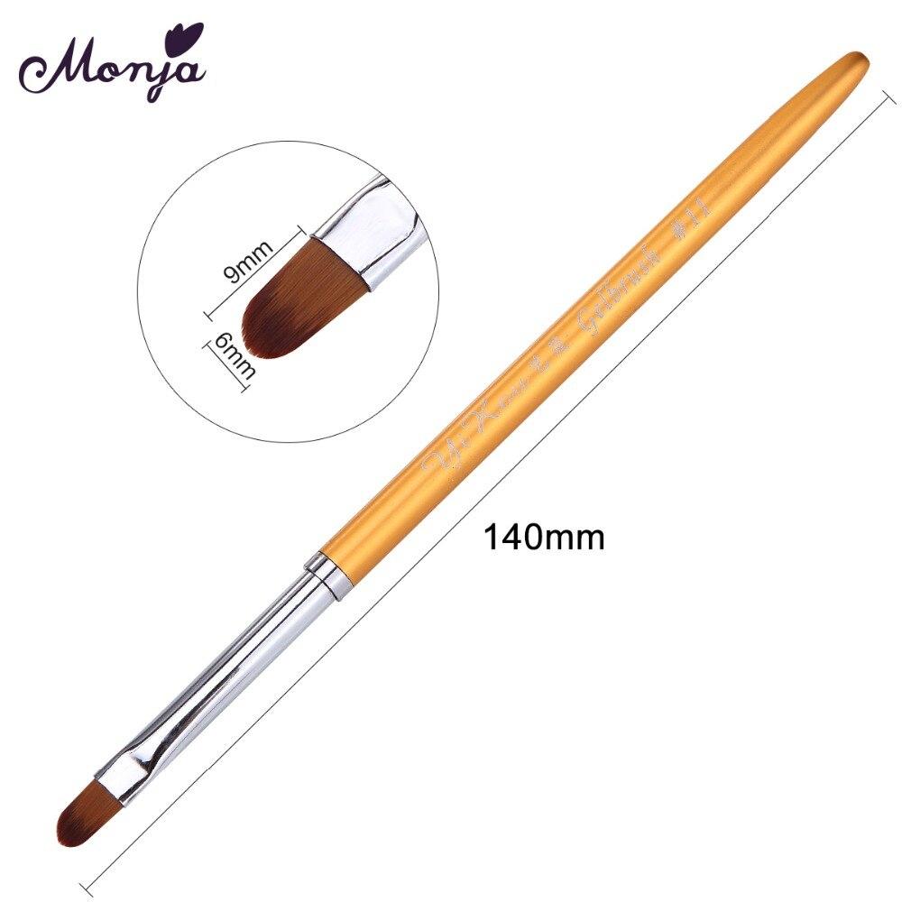 Monja Metal Handle Nail Art acrylic UV gel extension builder painting brush  DIY Design Decoration Tip Pattern drawing pen