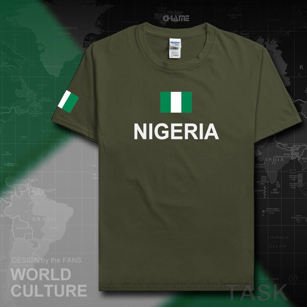 Shirt design in nigeria - Nigeria Nijeriya Men T Shirts Jerseys Nation Sporting Nigerian 100 Cotton T Shirt Fitness