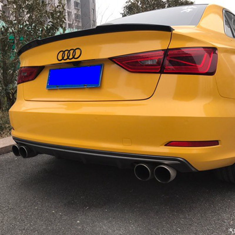 Car StyleFor Audi <font><b>A3</b></font> Sedan Spoiler <font><b>A3</b></font> S3 Carbon Fiber Rear Spoiler Trunk Wing Glass Black Finish 2014 2015 2016 2017 For <font><b>A3</b></font>