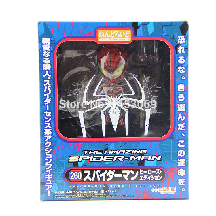 """Amazing Spider Man Nendoroid 260# Hero/'s Edition 4/"""" Action Figure Gift toy Doll"""