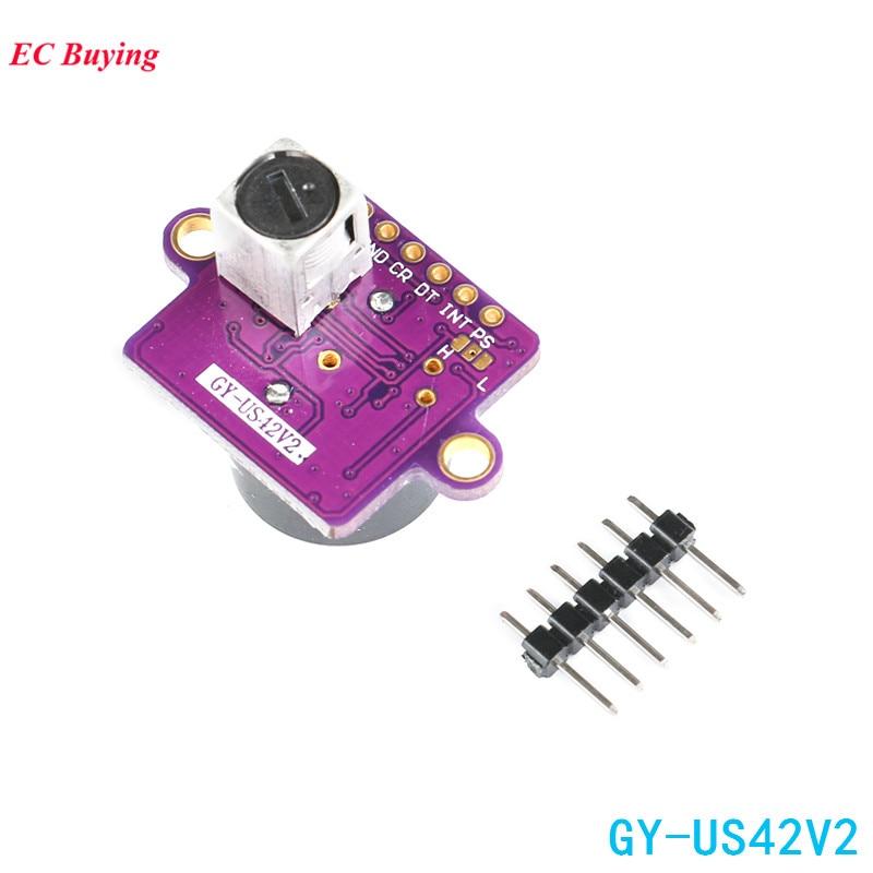 US $5 82 9% OFF|GY US42 Flight Control Ultrasonic Ranging Module Serial  UART TTL TTL PWM Pixhawk GY US42V2 Replace MB1242 / SRF02-in Integrated
