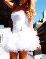 Горячая Продажа Платье De Festa Курто 2017 Сексуальная Одеяние Де Коктейль розовый Синий Красный Бисероплетение Мини Органзы Реальные Фото Коктейльные Платья OC381