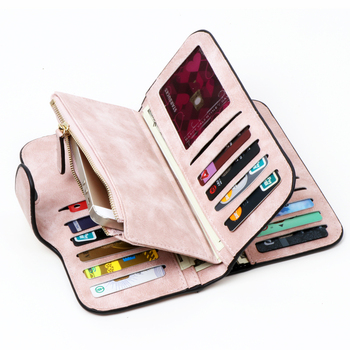 Women RFID Blocking Women Wallet Purse Wallet Female Card Holder Long Lady Clutch purse Carteira Feminina