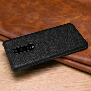 Image 2 - Genuine Leather Case Cover For OnePlus 7 Pro Retro Real Cowhide Leather Ultra Thin Slim Back Cover for One Plus 7 Pro
