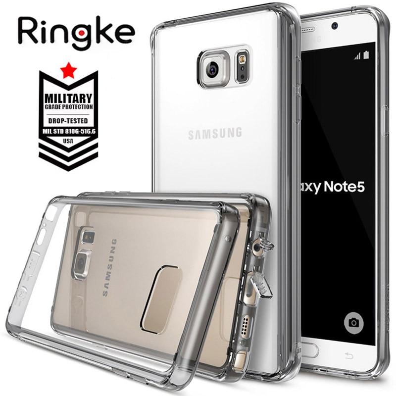 bilder für Ringke Fusion für Galaxy Note 5 Fall Kristall Clear View zurück und Flexible TPU Rahmen Note5 Fall antiklopf N 920 fall