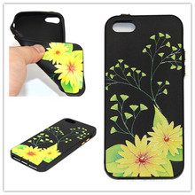 Vannego For iPhone 5 5S SE 3D Relief Flower Black Silicone Soft Back Cover Floral Phone Case For iPhone 5