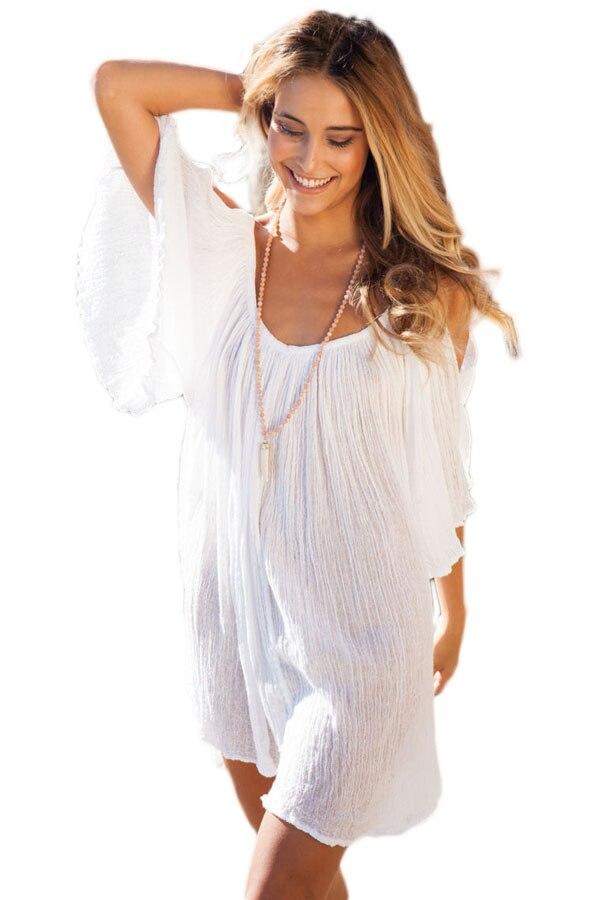 ᑐ¡ Nuevo! Verano túnica Beach cover UPS beachwear, Blanco sexy ...
