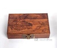 Китайский классический ретро палисандр официальный Чемодан дома Чехол для хранения Красный твердой древесины ящик Красного дерева ящик