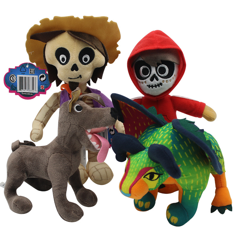 4 style Movie COCO Plush Toys Pixar Day of the Miguel Hector Dante Dog Cartoon TV Series Peluche Dolls Kids Cartoon Gift digby dog saves the day